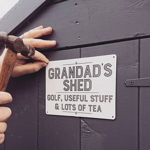 Personalised Grandad Shed Sign - art & decorations