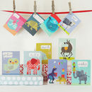Mini Greetings Card Pack Of 10 Animals