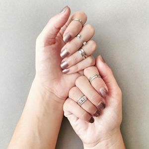 Silver Midi Ring Set Of Seven - new in jewellery