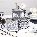 Geometric Alternative Personalised Cracker Tin