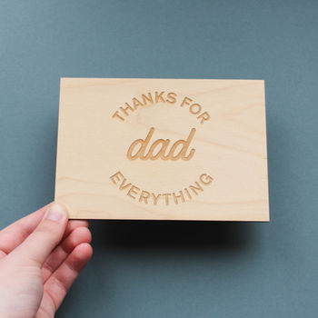 Thanks For Everything Father's Day Card