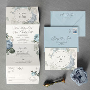 Alina Concertina Wedding Invitation