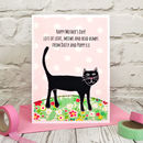 Personalise the front of the card from your cat or kitten on Mother's Day
