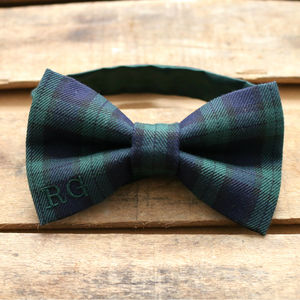 Personalised Black Watch Tartan Bow Tie
