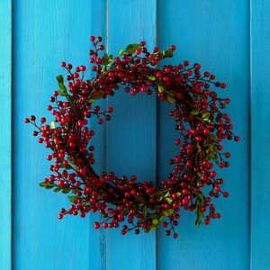 Red Berry Christmas Wreath Or Garland