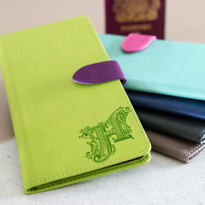 Personalised Travel Document Wallet - luggage tags & passport holders