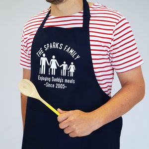 Personalised Our Family Apron