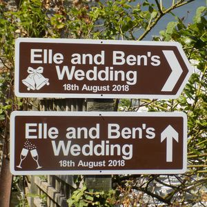 Personalised Direction Signs With Illustrations - outdoor decorations