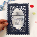 A5 Papercut 'Our Happy Place'