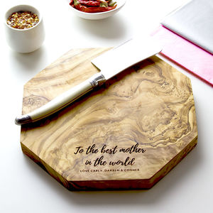 Personalised Octagon Cheese Board - cooking & food preparation