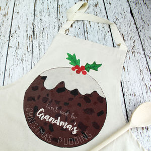 Personalised Christmas Pudding Apron - aprons
