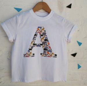 Liberty Que For The Zoo Print Initial T Shirt