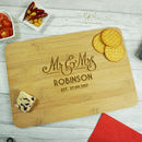 Wedding Mr And Mrs Bamboo Chopping Board