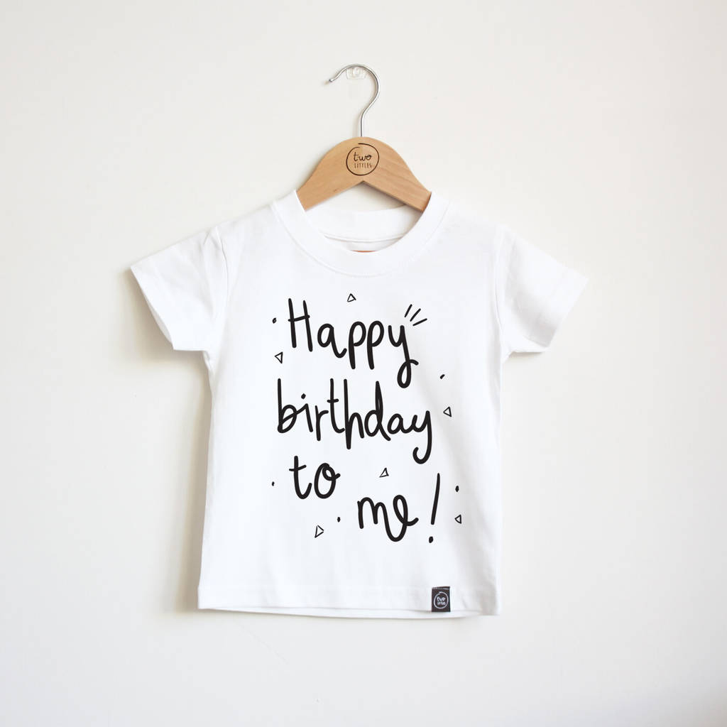 happy birthday to me kids t shirt by two littles