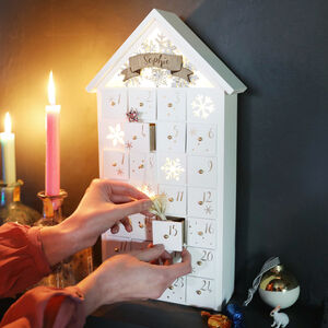 Personalised LED Snowflake Fill Your Own Advent House