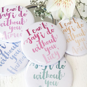 Watercolour Ombre 'Can't Say I Do…' Bridesmaid Mirror - hen party styling