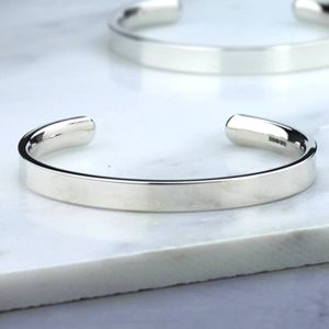 Men's Handmade Chunky Silver Torque Bangle - bracelets