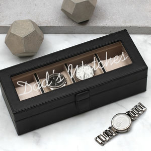 Personalised Luxury Italian Leather Watch Box - watch storage