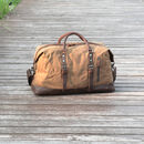 Brown bag in waxed canvas