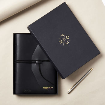 Personalised Hand Stitched Leather Notebook