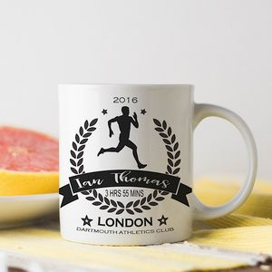 Personalised 'Running' Champion Sports Mug - mugs