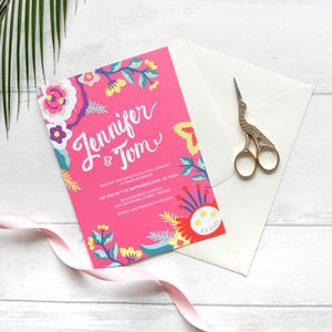 Colourful Wedding Invitation Collection Fab Fiesta
