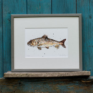 Fish Limited Edition Print Brown Trout - limited edition art