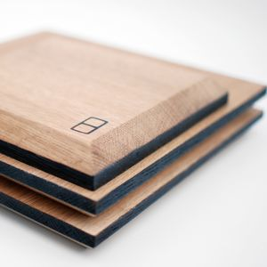 Oak Chopping Board Wooden / Square - tableware