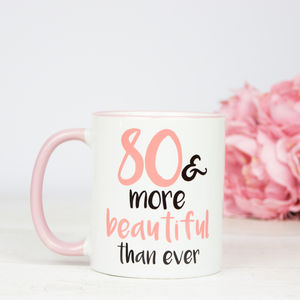 80th Birthday Gift Mug - dining room