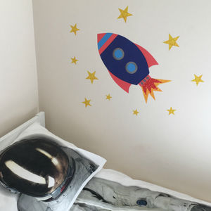 Rocket Wall Sticker - home decorating
