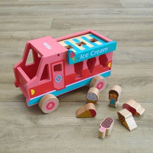 Personalised Wooden Ice Cream Van Shape Sorter - traditional toys & games