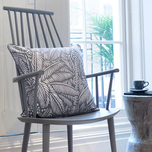 Screen Printed Bondi Tropical Leaf Pattern Cushion - cushions
