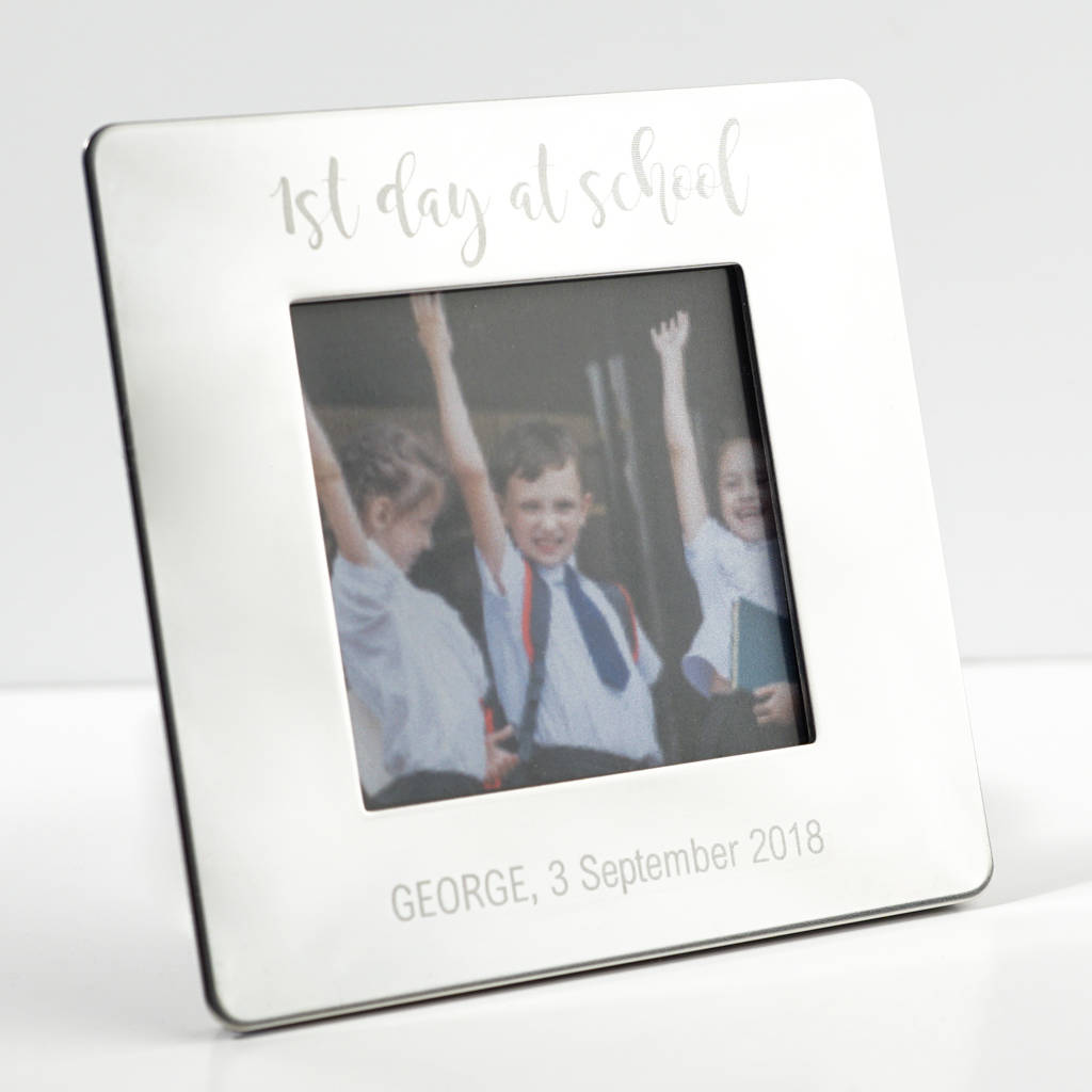 first day at school picture frame by wue | notonthehighstreet.com