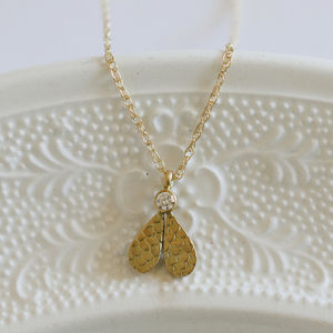 Catkin Double Droplet Diamond Pendant