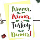 Turkey Dinner, Funny Christmas Card