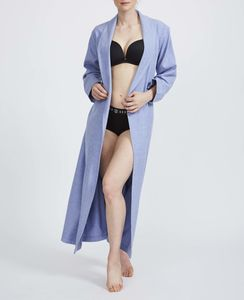 Women's Staffordshire Blue Two Fold Flannel Robe