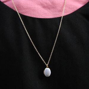 Children's Grey Locket Necklace