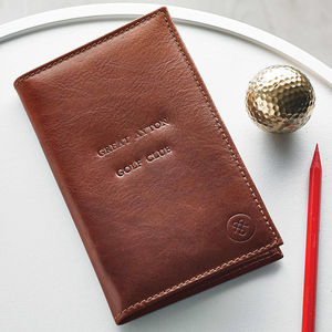 Personalised Best Man Golf Card Holder. 'The Sestino' - wallets