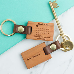 Personalised 'The Day You Became My…' Key Ring - token gifts