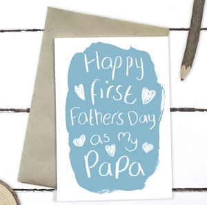 First Father's Day As My Papa Card - first father's day cards