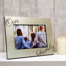 Our Family Photo Frame in Champagne Silver