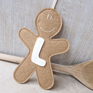 Personalised Handmade Felt Gingerbread Decoration