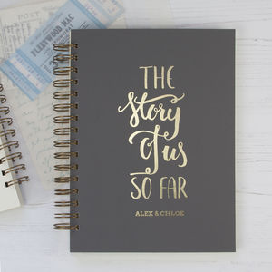 Personalised The Story Of Us So Far Memory Book - best wedding gifts