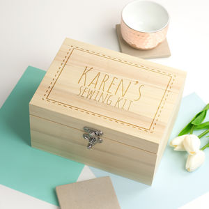Personalised Sewing Kit Storage Box