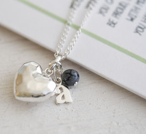 Graduation Gift, Sterling Silver Heart Necklace