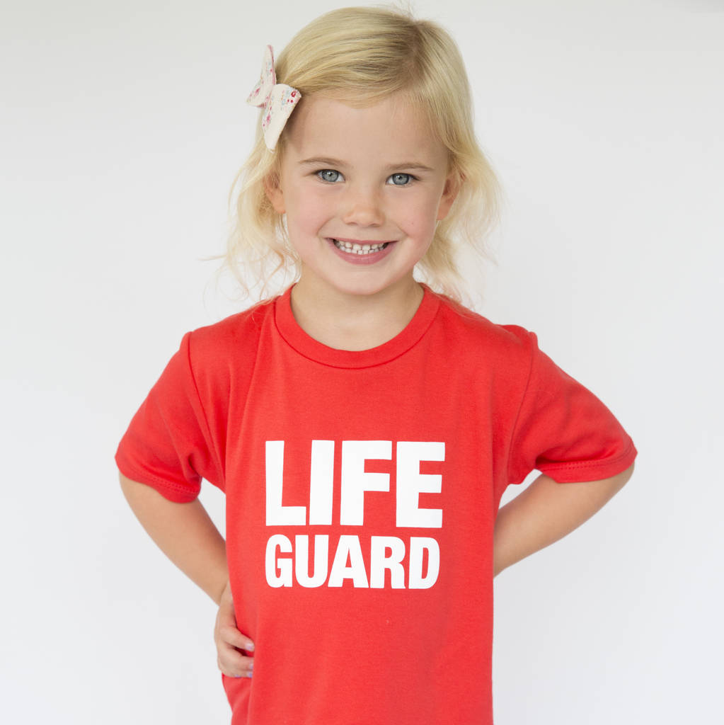 Life Guard Red Kids T Shirt