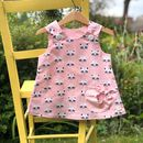 Girls Handmade Raccoon Pinafore Dress