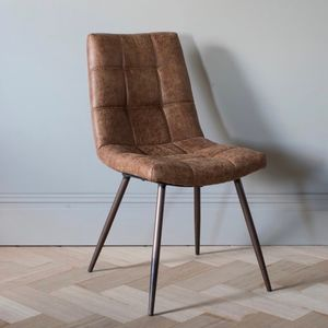Dixie Brown Leather Chair - armchairs
