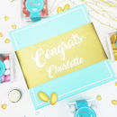 Personalised 'Congrats' Gluten Free Chocolate Box