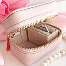 Soft Pink Leather Ring Box With Message For Mum